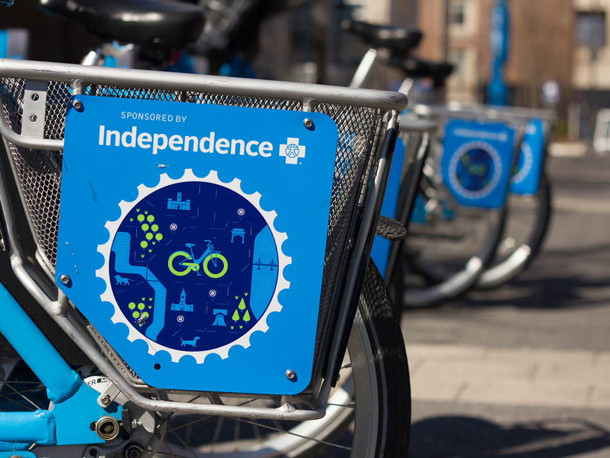 Detail shot of Indego Bike