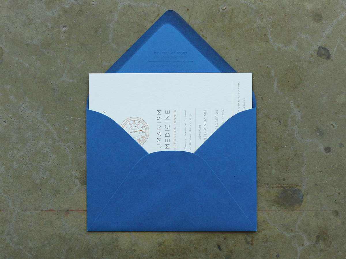 Humanism in Medicine Invitation In Envelope
