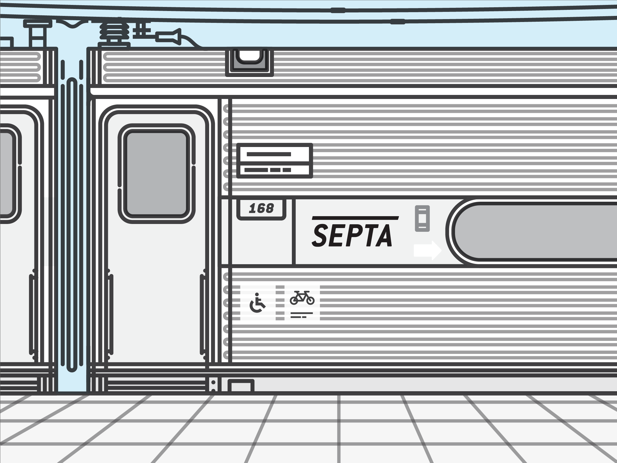 Redesigned SEPTA Logo placed on Train