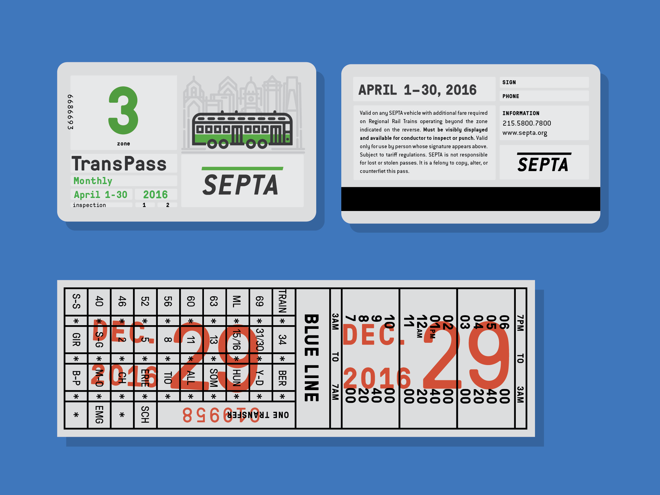 SEPTA Tickets Transfer